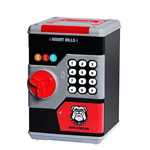 k für Jungen und Mädchen, elektronisches Passwort Geld Münze Bank Spielzeug mit automatischer Geldrolle, Geschenk für Weihnachten und Geburtstag ()