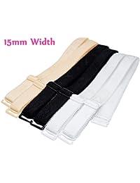 15mm/18mm de ancho correas de hombro sujetador elástico ajustable negro blanco y beige 3pares