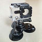 Auto Trigonometrie Saugnapf Stativgewinde Schrauben für Gopro Hero 2 3 3+ Kamera (Farbe: schwarz)
