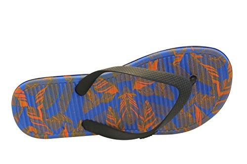 Nike Herren Solarsoft Thong 2 Print Flip-Flops, Black (Schwarz / Hell Hochrot-Rcr Blau), 42.5 EU