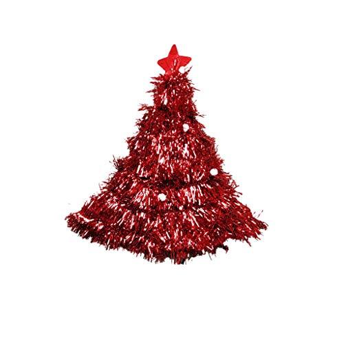 Amphia - Weihnachtsfeier-Weihnachtsmannmütze-rote und weiße Kappe für Santa Claus-Kostüm, Weihnachtsbaum Hut Weihnachtsbaum Hut(Red)