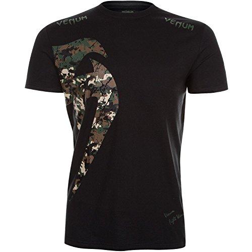 Venum Herren T-Shirt Original Giant, Schwarz/Tarnen, L, 02597-121 (Kleid Plus-t-shirt)