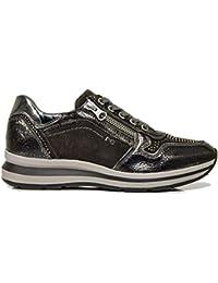 Sneaker NeroGiardini A806572-105 6572 Scarpe Sportive Nere Donna con  Cerniera 2cd60fd246e
