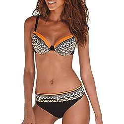 KPILP Femme Maillot de Bain Sexy Bikini Écharpe Croix Dentelle Bikini Maillot de Bain VêTements De Sport Maillots De Bain 2 PièCes