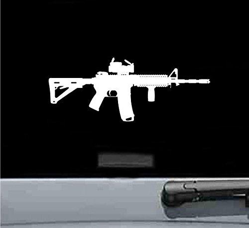 AR15/M4/Gewehr mit Punktvisier Silhouette Vinyl Aufkleber Aufkleber - Toyota Trd Decals