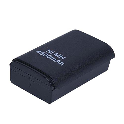 SODIAL(R) NOIR 4800mah Rechargeable Batterie Pack Pour Manette CONSOLE Sans Fil Xbox 360