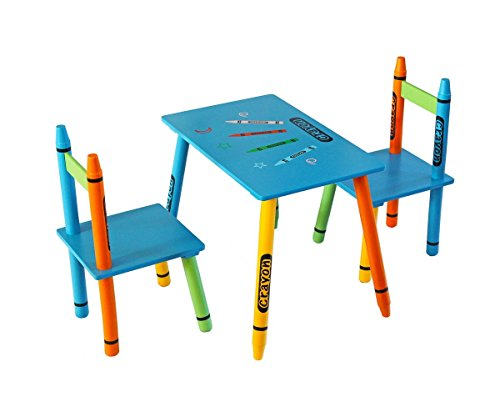 Bebe Style Childrens Wooden Table and Chair Set , Blue