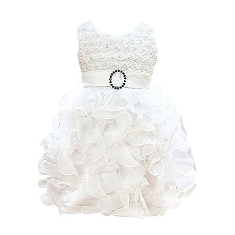 ESHOO Baby Mädchen Blume Hochzeit Brautjungfer Party Taufe Kleid 0-24