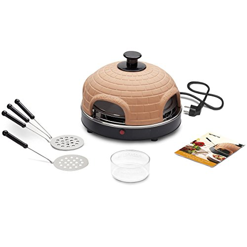 Emerio Pizzarette Original Pizza Oven Mini-pizza for 4 Persons