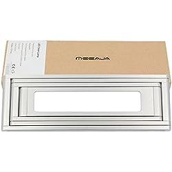 Meeaja LED Desk Lamp, Bedtime Transformers dimmerabile da tavolo lampada portatile, 2-Livello Dimmer, Eye-Care, Built-In batteria, Risparmio energetico, lega di alluminio pieghevole Lampada per Leggere Studiare (Argento)