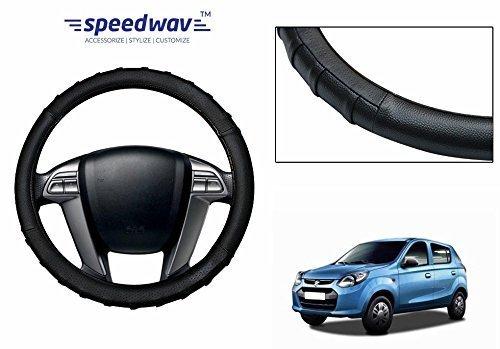 speedwav grippy sc106s leatherette car steering cover black s-maruti alto 800 Speedwav Grippy SC106S Leatherette Car Steering Cover Black S-Maruti Alto 800 41Tjflk08YL