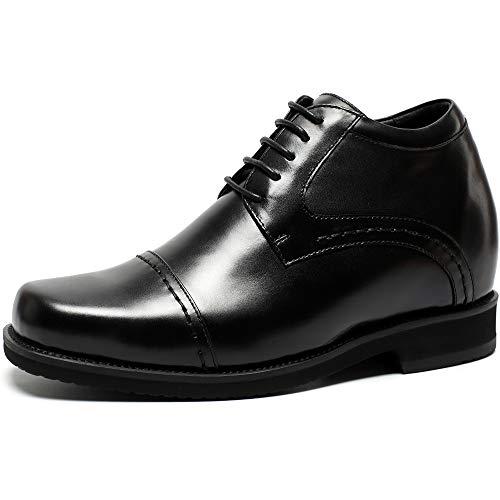 Chamaripa eleganti scarpe con rialzo interno stringate derby uomo affari commerciali fino a 10 cm - h71v19k021d