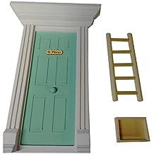 Puerta azul turquesa Ratón Pérez