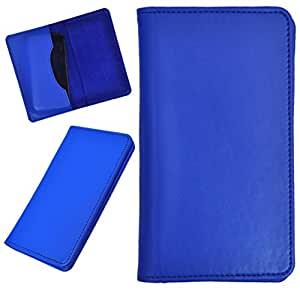 DCR Pu Leather case cover for Alcatel Fire C (blue)