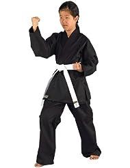 KWON - Kimono de artes marciales, tamaño 150 cm, color negro