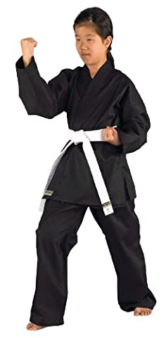 Kwon Kimono de karaté pour enfant Karatea Shadow Noir noir 110 cm