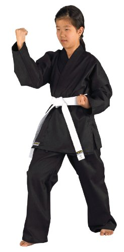 Kwon Kinder Kampfsportanzug Karatea Shadow, schwarz, 130 cm, 551101130