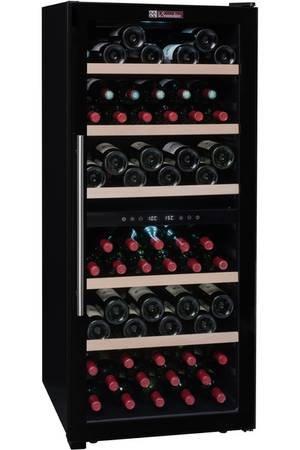 La Sommelière CVD102DZ Cave à vin de mise à température par FRIO ,102 bouteilles - Deux zones de températures , Design contemporain