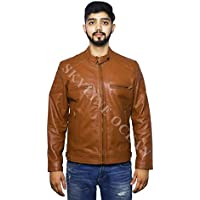 SKY LINE OCEAN GENUINE LEATHER JACKET (100% PURE LEATHER) FOR MEN CHOCOLATE BROWN