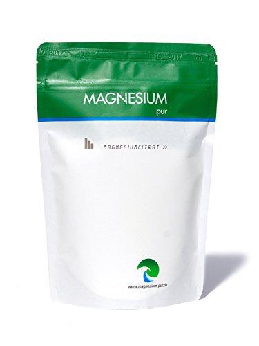 Magnesium Pulver (Magnesium-Pur Pulver 500g Nachfüllbeutel pures Magnesiumcitrat Pulver, hoch bioverfügbar, vegan, ohne Zusätze)