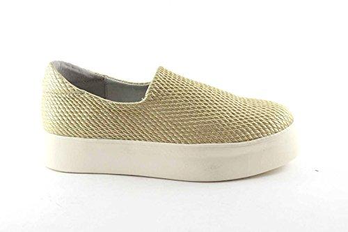 FRAU 37Y0 Gold Schuhe Frauen Slip-On Sneakers Strecke Plateaus Beige