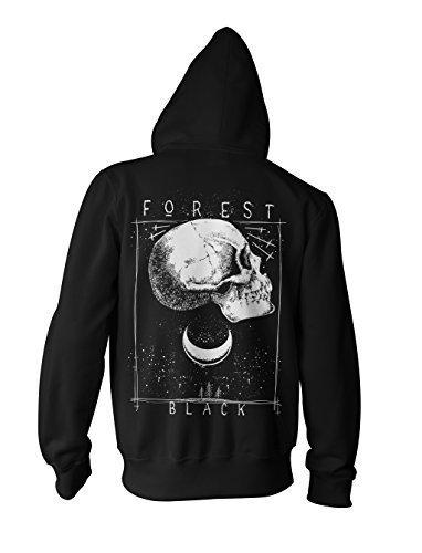 Kapuzenpullover Hoodie Zipper Gothic Punk Black Forest ()