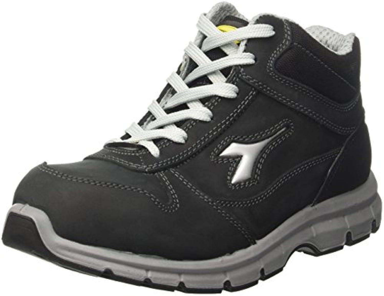 Diadora - Run High S3 Esd, zapatos de trabajo Unisex adulto, Negro (Nero), 46 EU