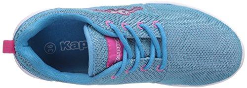 Kappa SPEED II Footwear unisex, Low-Top Sneaker unisex adulto Blu (Blau (6622 Tuerkis/Pink))