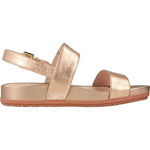 STONEFLY 108398 rosa laminato sandali bassi donna zeppa fibbia pelle Rosa