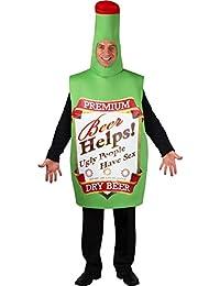 Bouteille de bière drôle Halloween / Carnaval Costume de fantaisie - Taille unique