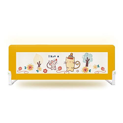 Kinder Leitplanke Chunlan Hochbett-Geländer der Kinder, Baby-Lange Leitschiene (Farbe : Gelb, größe : 150 * 67cm)