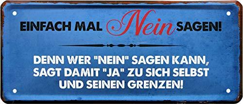 Cartel De Blechschild 28 Cm X 12 Cm A 1289 Ofertascom