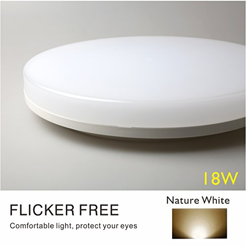 ClayLight LED Ceiling Light Bulkhead 18W 1500LM Natural White(4000K) IP44 Moisture-Proof for for Bathroom, Kitchen