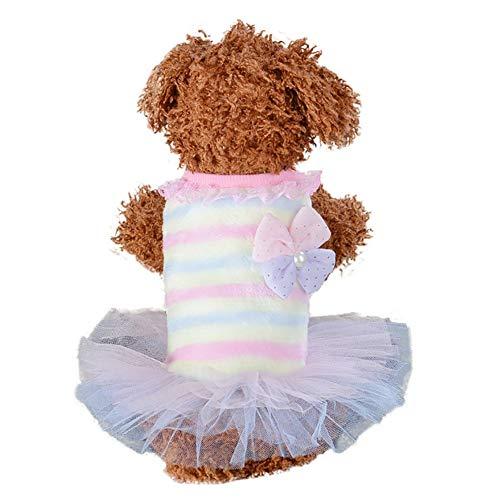 Bluelucon Stricken Hund Hoodie Pullover Haustier Katze Welpen Mantel Kleine Haustier Hund warme Kostüm Bekleidung Hundejacke mit Kapuze, Rosa, - Klebeband Hunde Kostüm