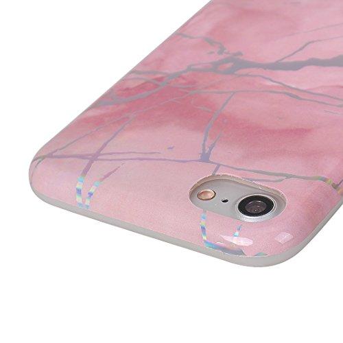 Coque Silicone Transparent iPhone 7 Case,Etui Housse Apple iPhone 8 Coque rigide transparente Souple Cas Rosa Schleife®Silicone Gel Etui de Protection Portable Téléphone Pochette arriere Bumper Coque  Rose