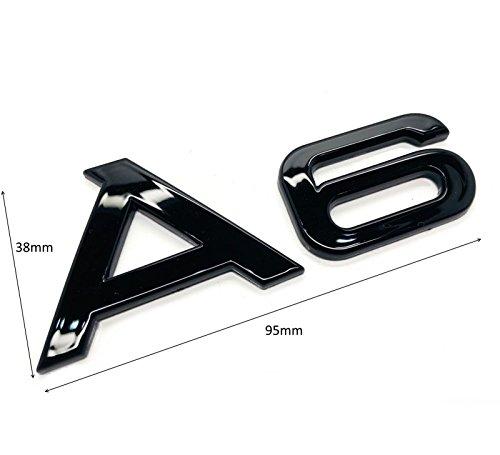 Carbon Genetics Schwarz glänzend A6 Abzeichen Emblem Stick auf Black Edition TFSI TDI S-Line