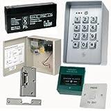 Contrôle d'accès Porte tc232- Kit de clavier numérique/électrique Verrou de porte/Bouton poussoir de sortie