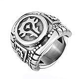 Uezenu Herren Persönlichkeit Jahrgang World of Warcraft BEEINDRUCKEND Stamm Titan Stahl Ringe
