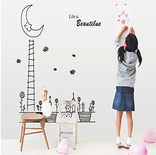 Moon Night children's room home decoration wall stickers 60X90CM