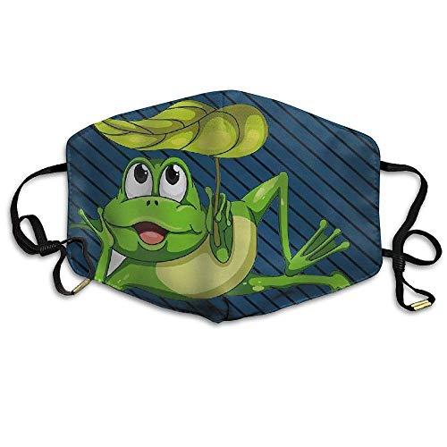 Preisvergleich Produktbild Jxrodekz Cute Leaf Frog Unisex Face Mouth Mask Earloop Mouth Muffle Cycling Breathable Mask