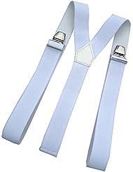 Bretelles 3 bandes blanches