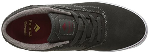 Emerica Herman G6 Vulc, Chaussures de Skateboard homme DARK GREY/RED/WHITE