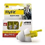 Alpine FlyFit Ohrstöpsel - Regulieren den Luftdruck zur Vorbeugung von Trommelfellschmerzen - Weiche Filter für Reisen - Bequemes hypoallergenes Material - Wiederverwendbare Gehörschutz