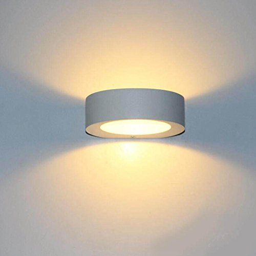 Ww lampada da parete a led rotonda minimalista moderno for Lampada a led camera da letto