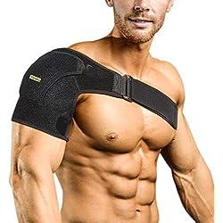 Verstellbare Schulterbandage Kompression Schulterschutz Schultergurt für AC-Gelenke, Sehnenentzündungen, Sportverletzungen Schulter Schmerzlinderung, Linke oder Rechte Schulter, Männer und Frauen