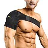Compression Shoulder Brace Shoulder Support Sleeve for Injury Prevention, Dislocated AC Joint, Frozen Shoulder Pain, Arthritic Shoulders, Unisex, Fits Both Left Right Shoulder