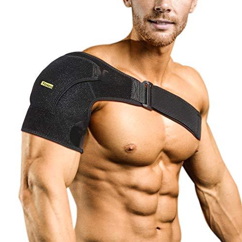 Verstellbare Schulterbandage Kompression Schulterschutz Schultergurt für AC-Gelenke, Sehnenentzündungen, Sportverletzungen Schulter Schmerzlinderung, Linke oder Rechte Schulter, Männer und Frauen -