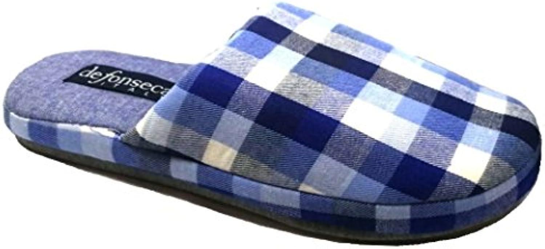 de fonseca Zapatillas de estar Por casa de Algodón Para Hombre Azul Azul Claro 40/41 EU -