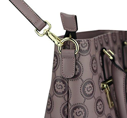 Mulier , Damen Tote-Tasche, violett (violett) - HB820129-purple violett