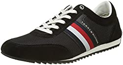 Tommy Hilfiger Corporate Material Mix Runner, Men's Low-top Sneakers, Black (Black 990), 8 Uk (42 Eu)
